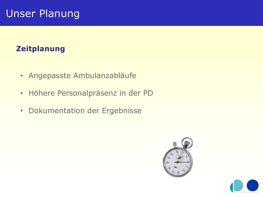 Unser Planung Zeitplanung Angepasste Ambulanzabläufe