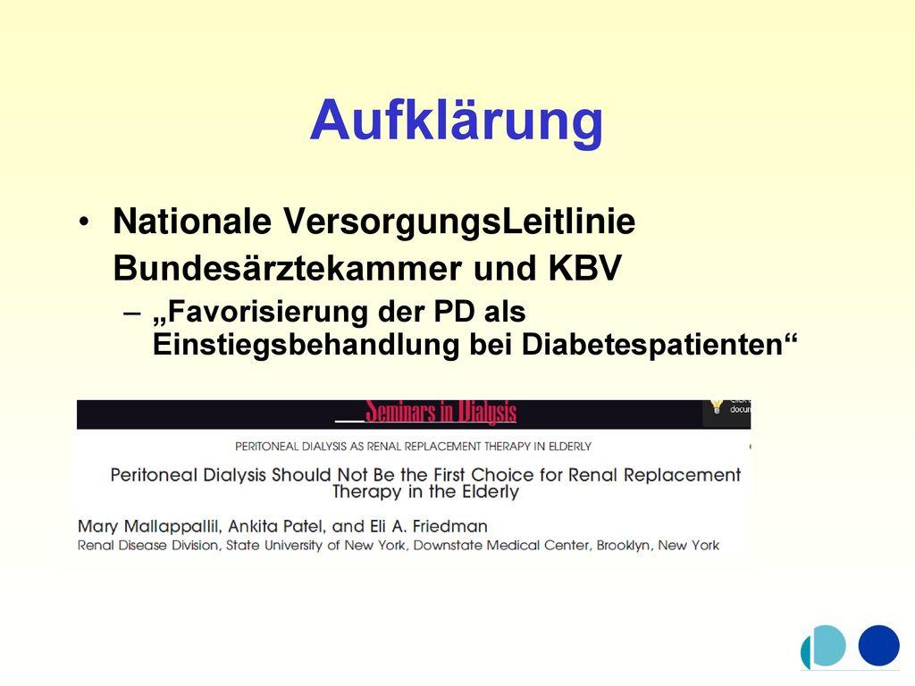 Aufklärung Nationale VersorgungsLeitlinie Bundesärztekammer und KBV