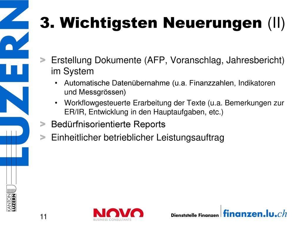 3. Wichtigsten Neuerungen (II)