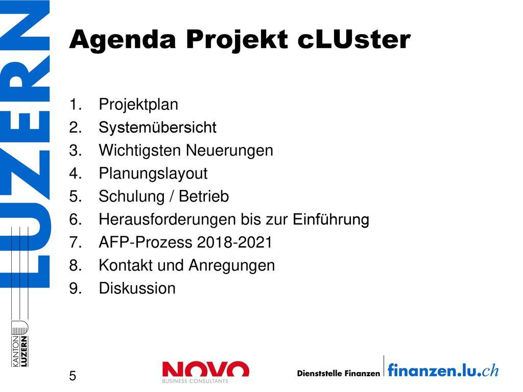 Agenda Projekt cLUster
