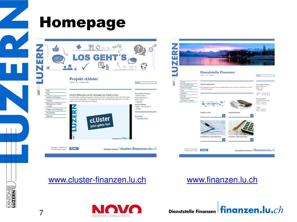 Homepage www.cluster-finanzen.lu.ch www.finanzen.lu.ch