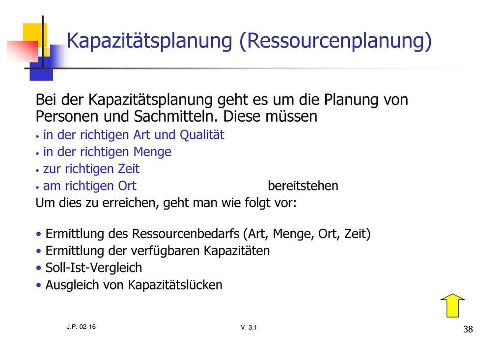 Kapazitätsplanung (Ressourcenplanung)