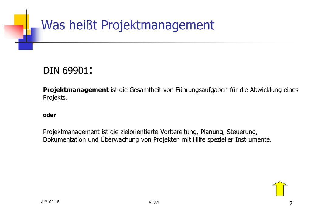 Was heißt Projektmanagement