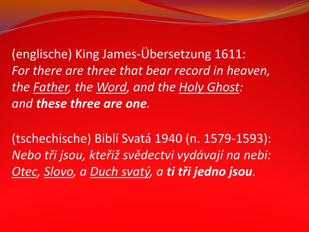 (englische) King James-Übersetzung 1611: