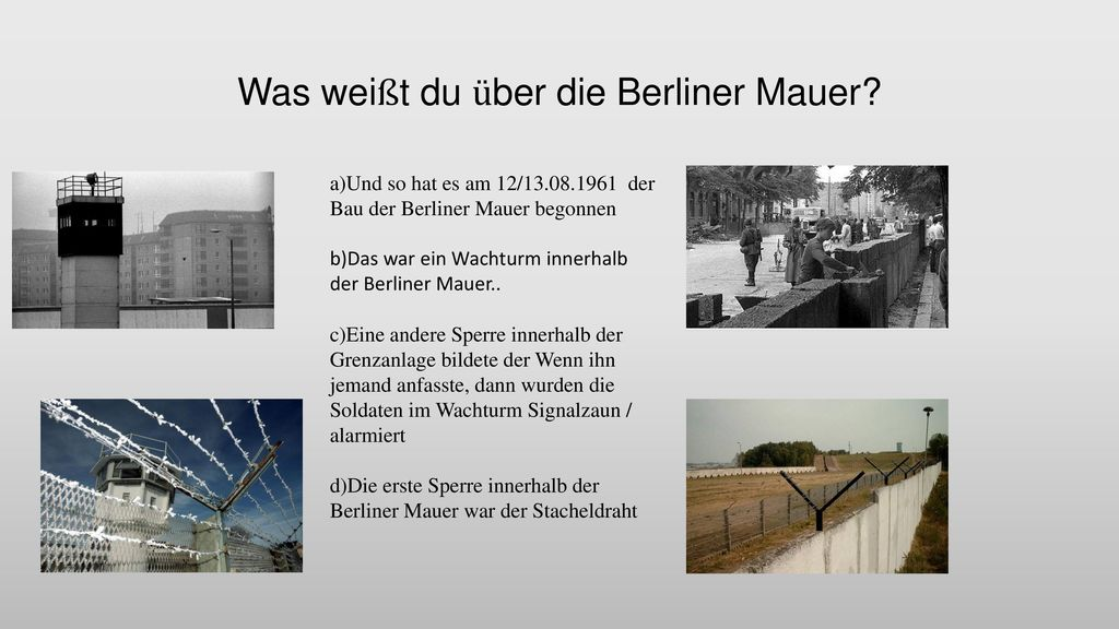 Was weißt du über die Berliner Mauer