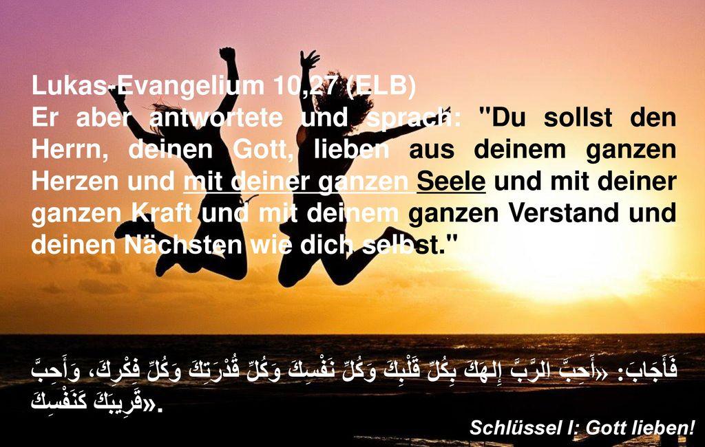 Lukas-Evangelium 10,27 (ELB)