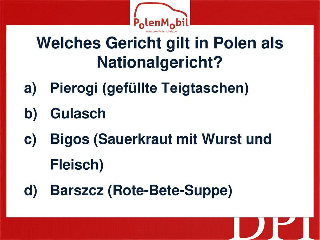 Welches Gericht gilt in Polen als Nationalgericht