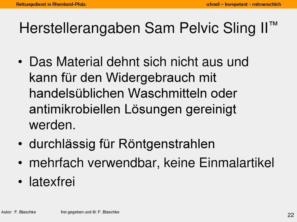 Herstellerangaben Sam Pelvic Sling II™