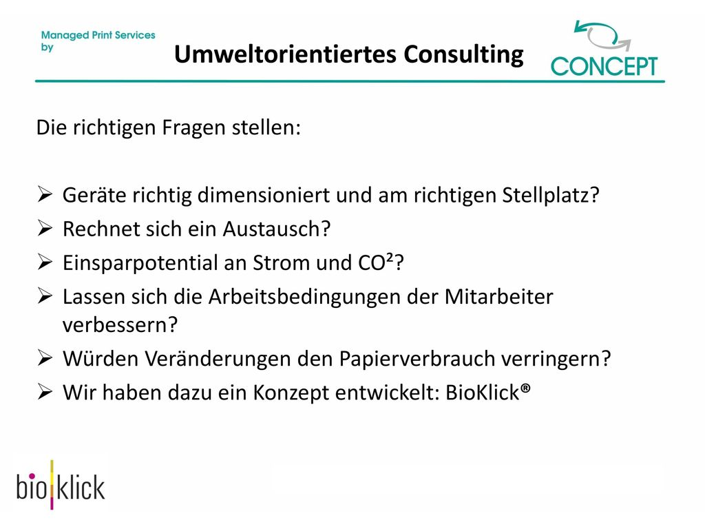 Umweltorientiertes Consulting