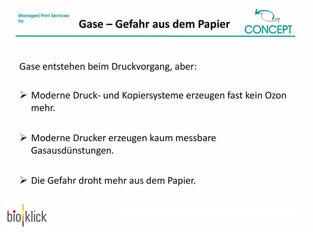 Gase – Gefahr aus dem Papier