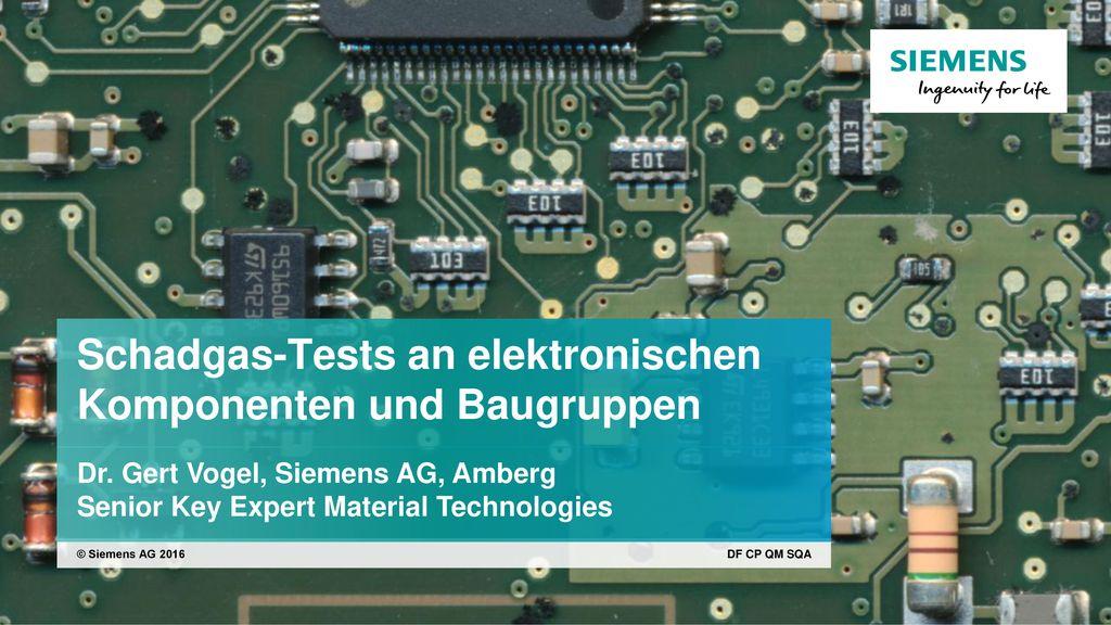 Schadgas-Tests an elektronischen Komponenten und Baugruppen