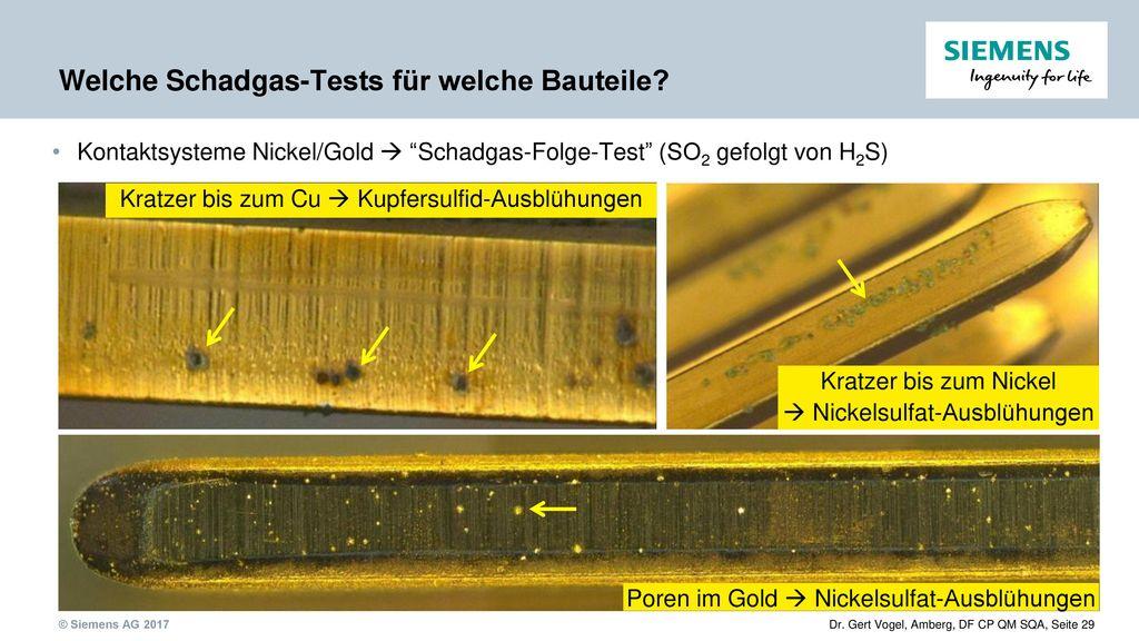 Welche Schadgas-Tests für welche Bauteile