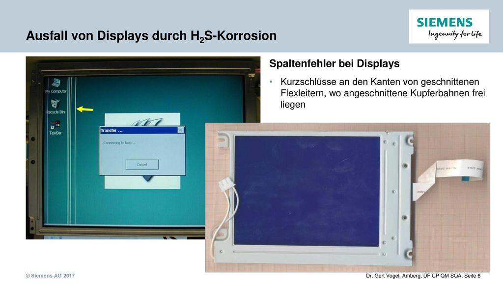 Ausfall von Displays durch H2S-Korrosion