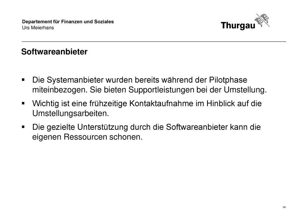 Urs Meierhans Softwareanbieter.