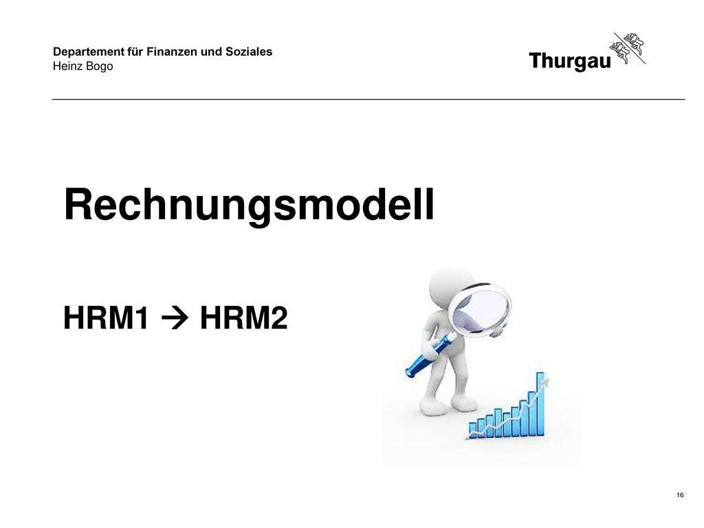Rechnungsmodell HRM1  HRM2 Guete Obig sehr veehrti Dame und Herren