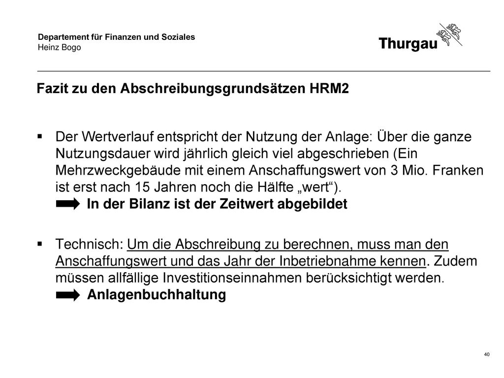 Fazit zu den Abschreibungsgrundsätzen HRM2