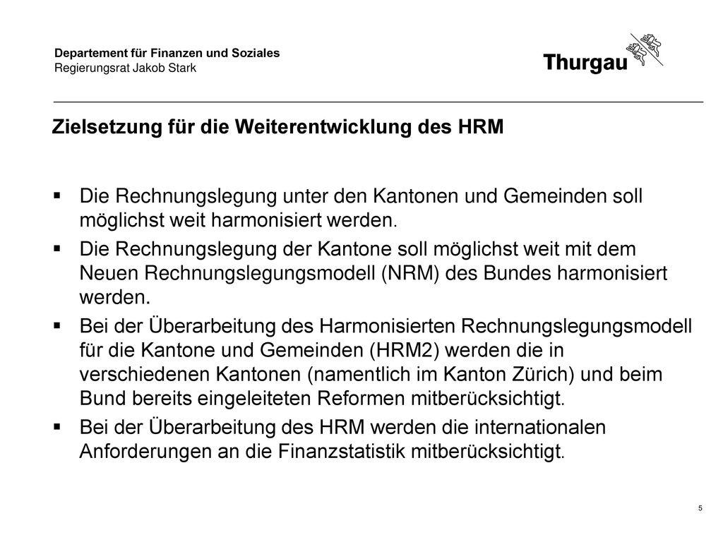 Zielsetzung für die Weiterentwicklung des HRM