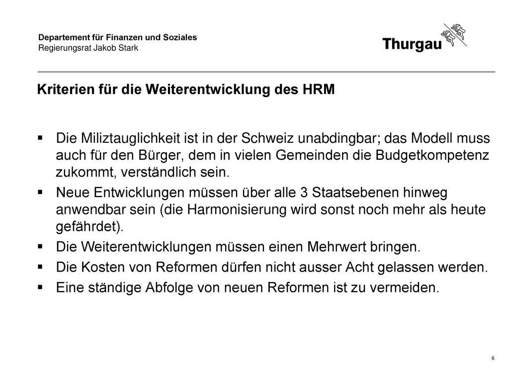 Kriterien für die Weiterentwicklung des HRM