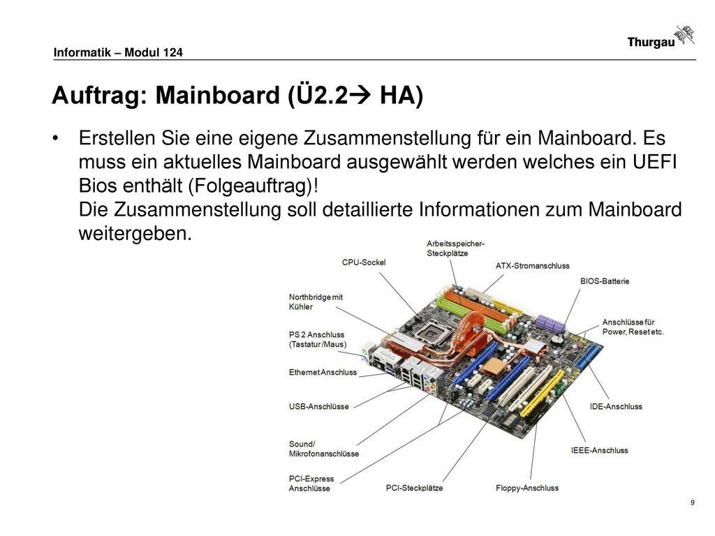 Auftrag: Mainboard (Ü2.2 HA)