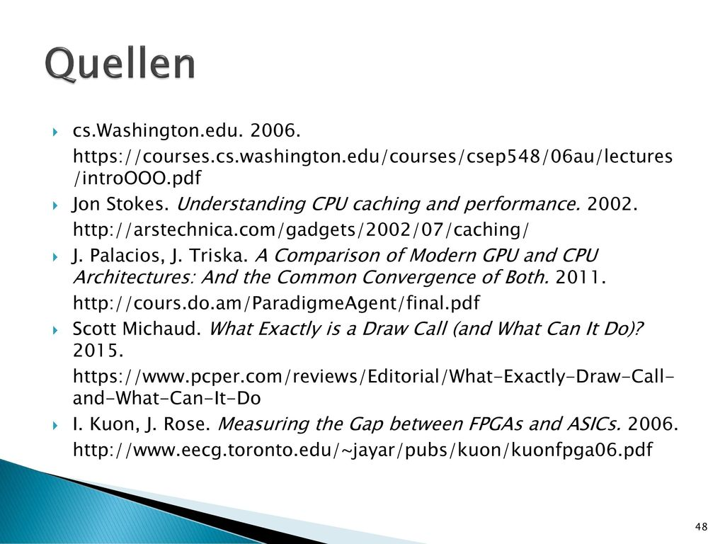 Quellen cs.Washington.edu. 2006.