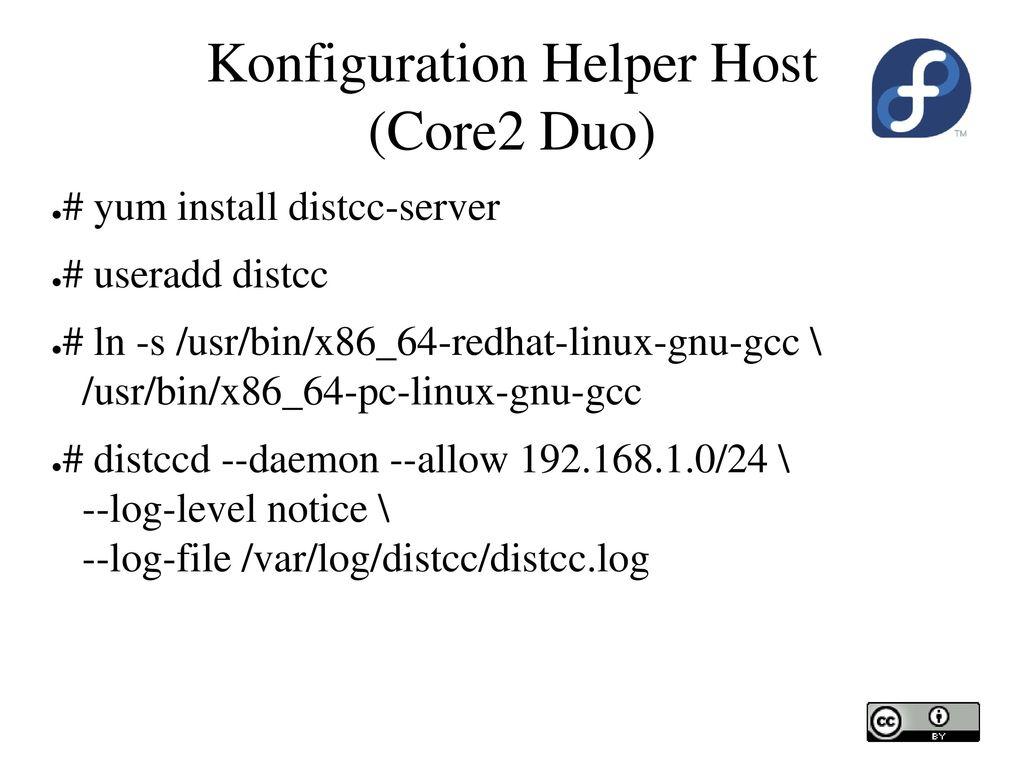 Konfiguration Helper Host (Core2 Duo)
