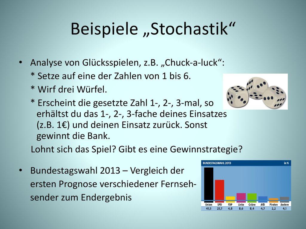 """Beispiele """"Stochastik"""