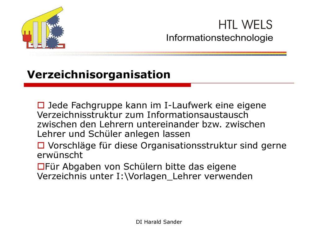 Verzeichnisorganisation