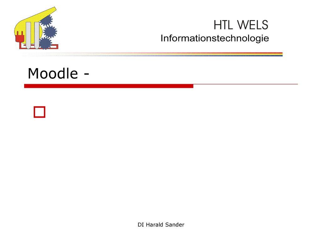 Moodle - DI Harald Sander