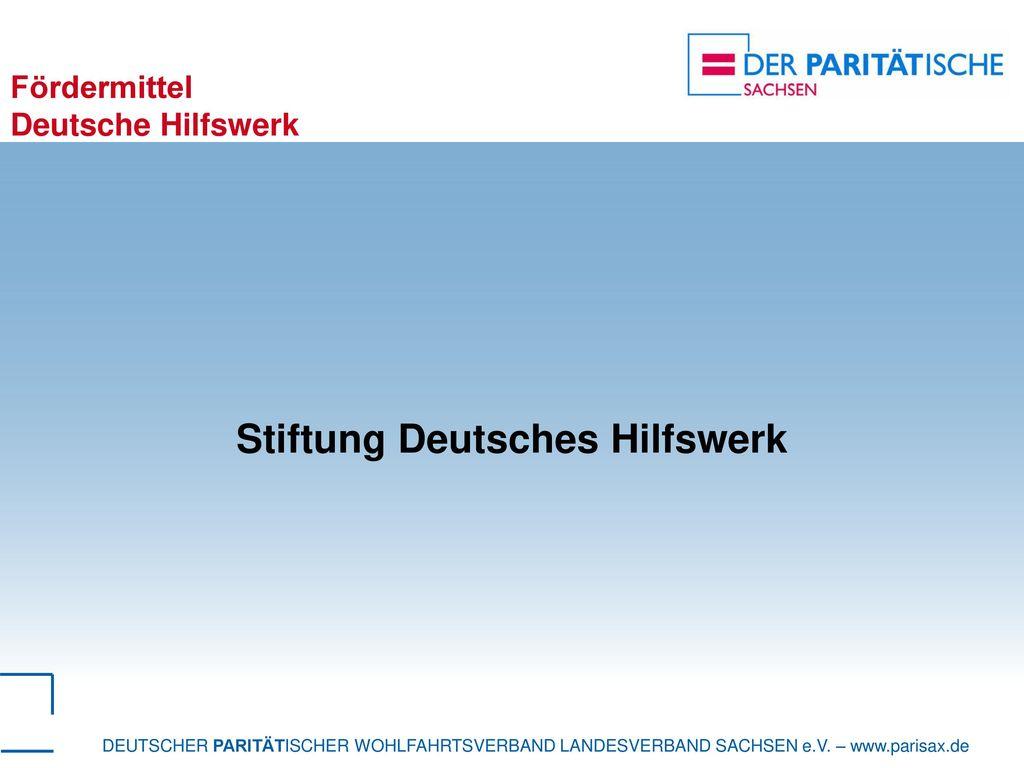 Fördermittel Deutsche Hilfswerk