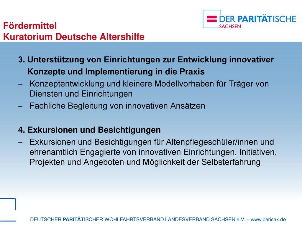 Fördermittel Kuratorium Deutsche Altershilfe