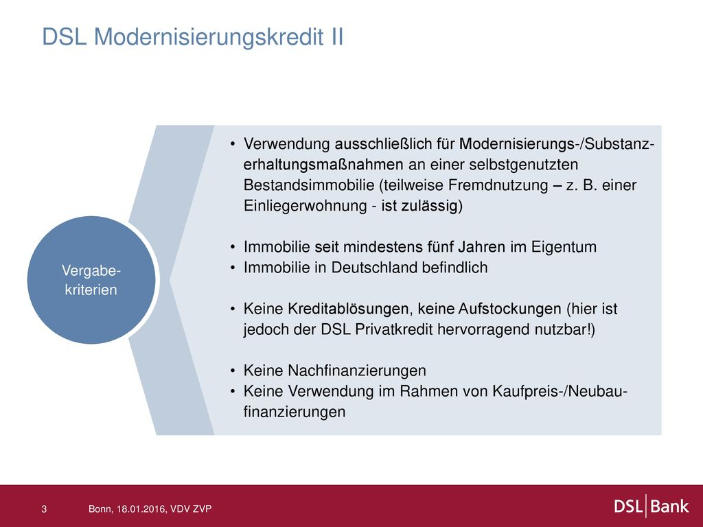 DSL Modernisierungskredit II