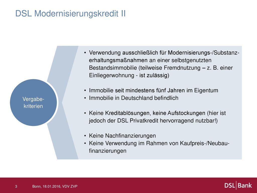 DSL Modernisierungskredit II
