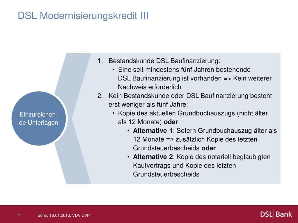 DSL Modernisierungskredit III