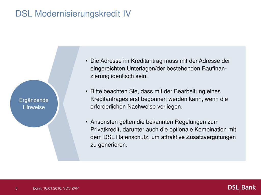 DSL Modernisierungskredit IV