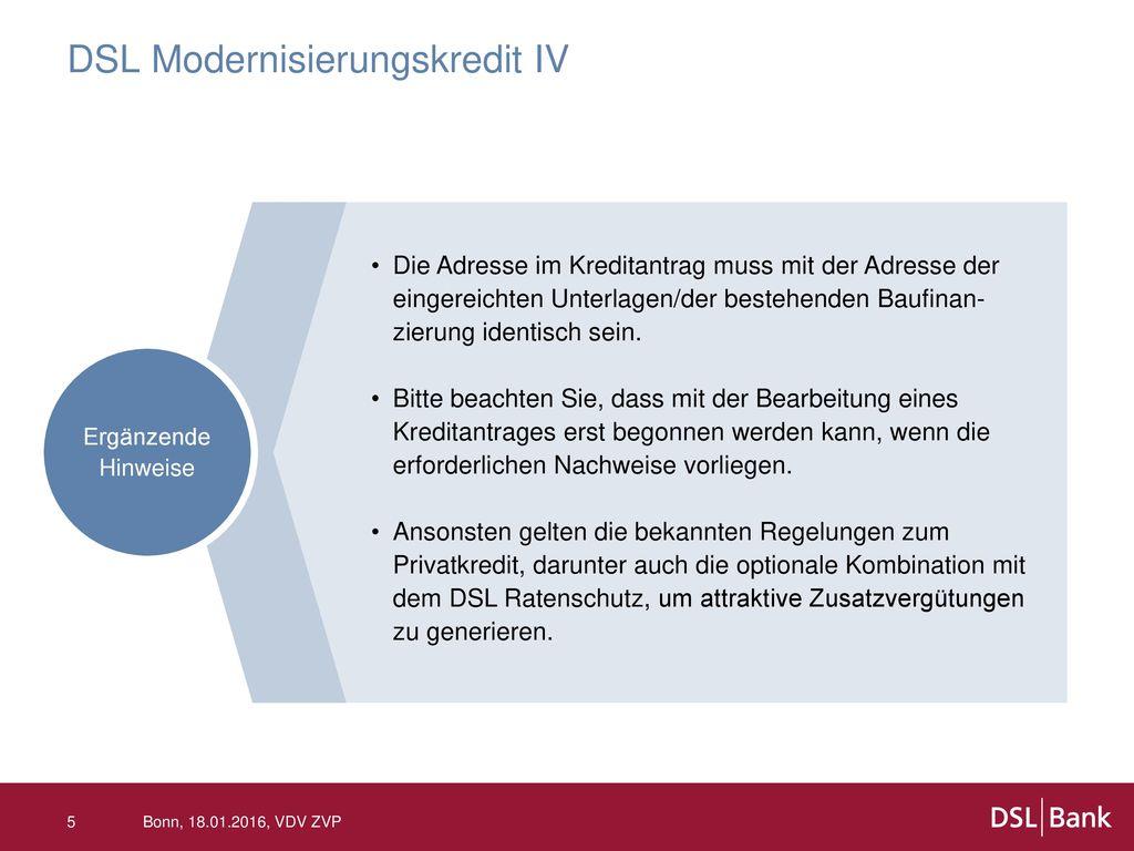 DSL Modernisierungskredit IV