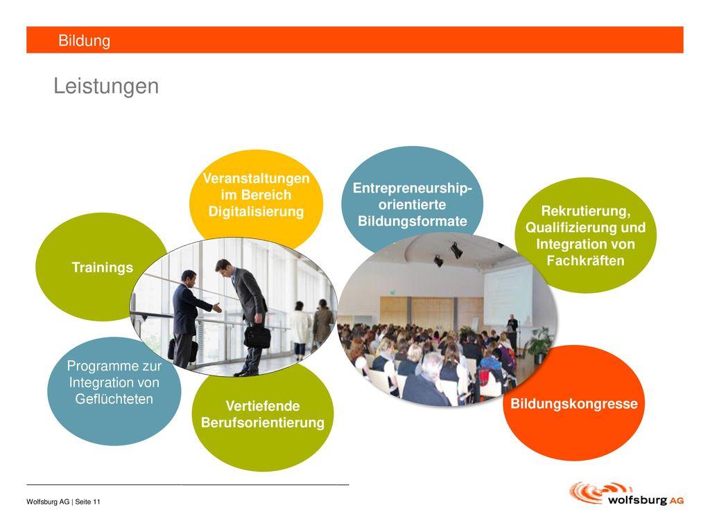 Leistungen Bildung Veranstaltungen im Bereich Digitalisierung