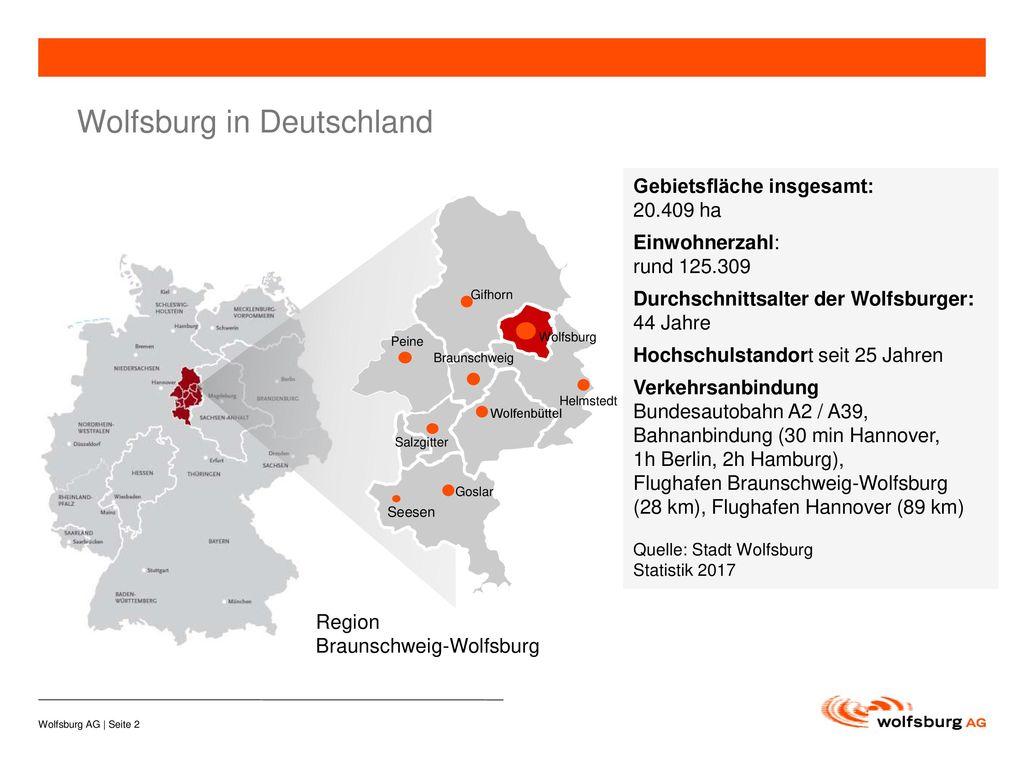 Wolfsburg in Deutschland