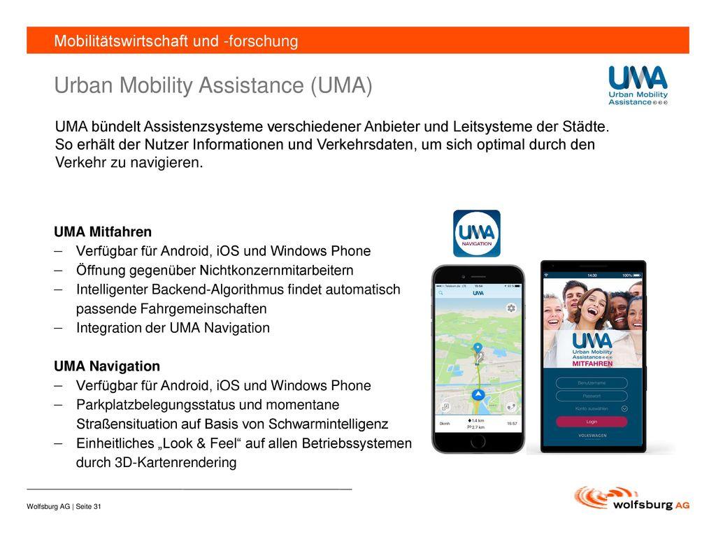 Urban Mobility Assistance (UMA)