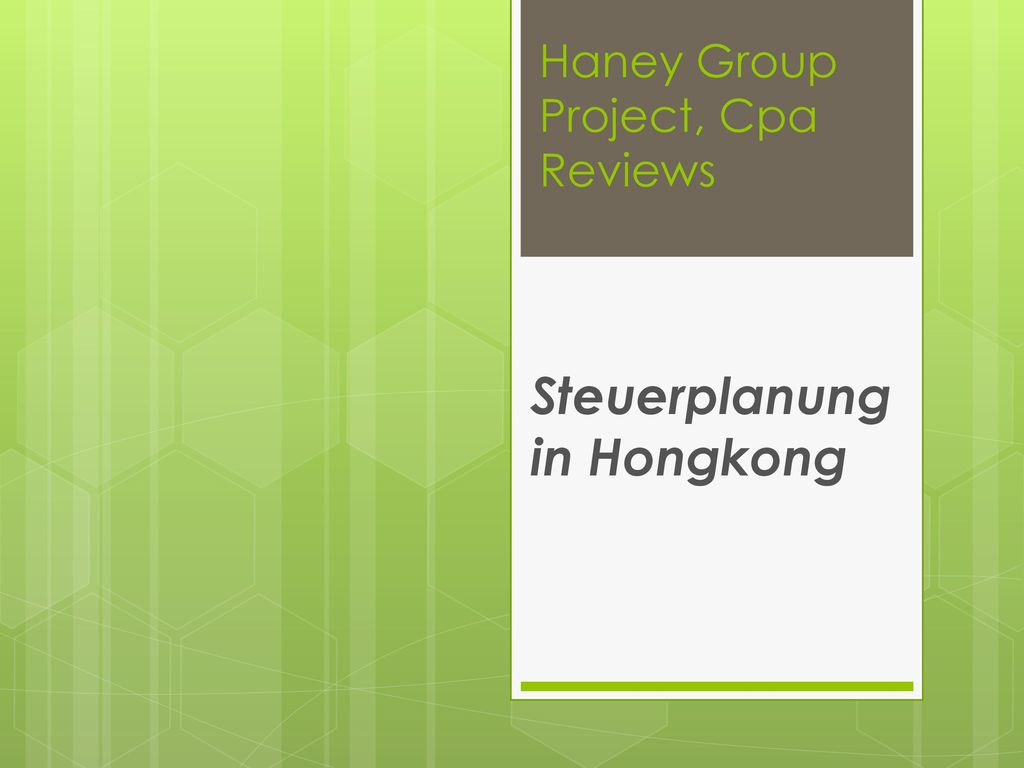 Haney Group Project, Cpa Reviews