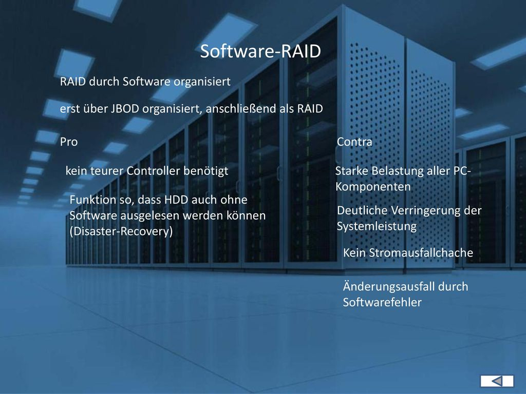 Software-RAID RAID durch Software organisiert