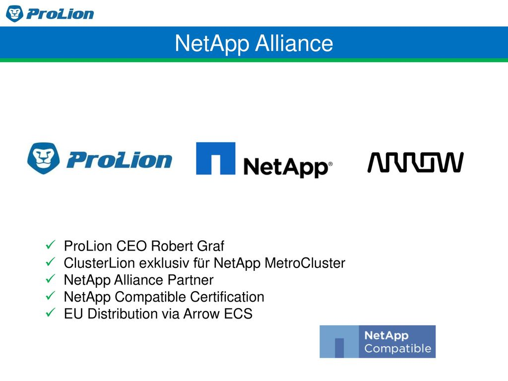 NetApp Alliance ProLion CEO Robert Graf