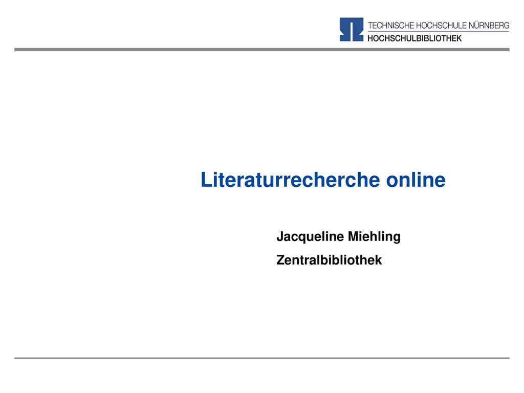 Literaturrecherche online