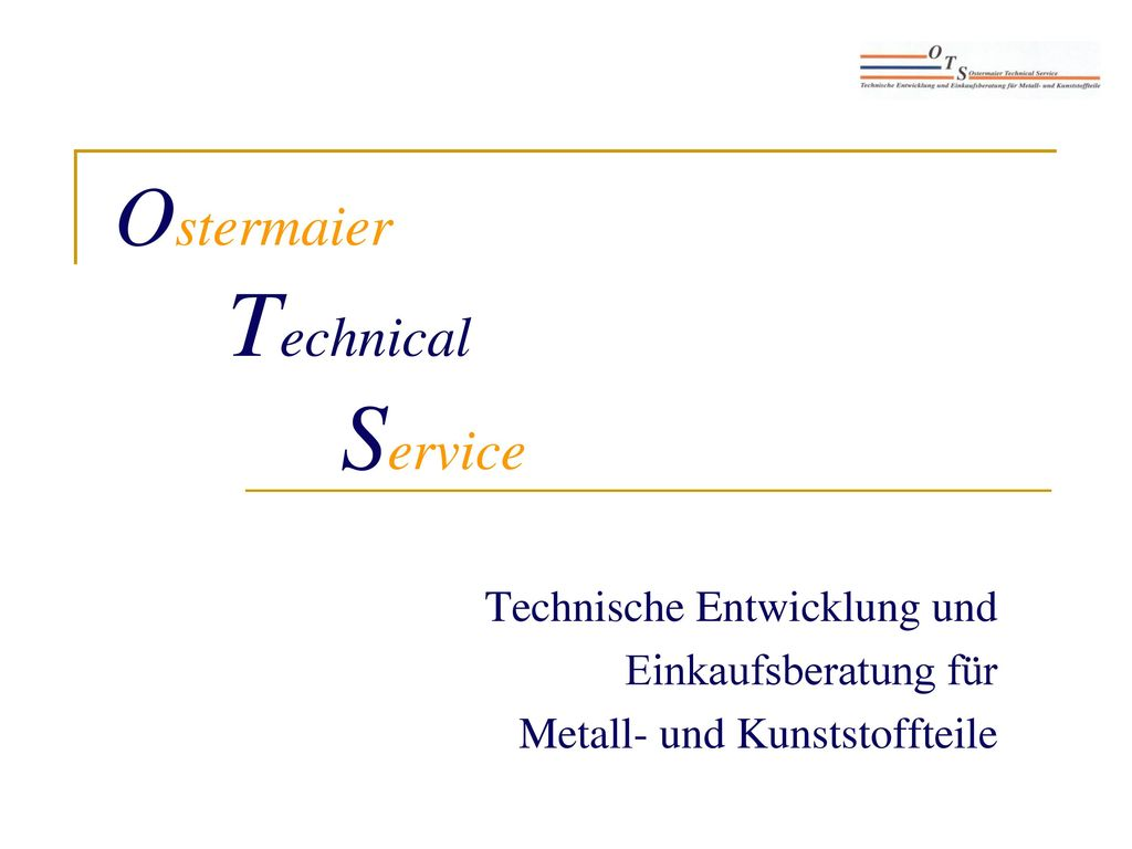 Ostermaier Technical Service