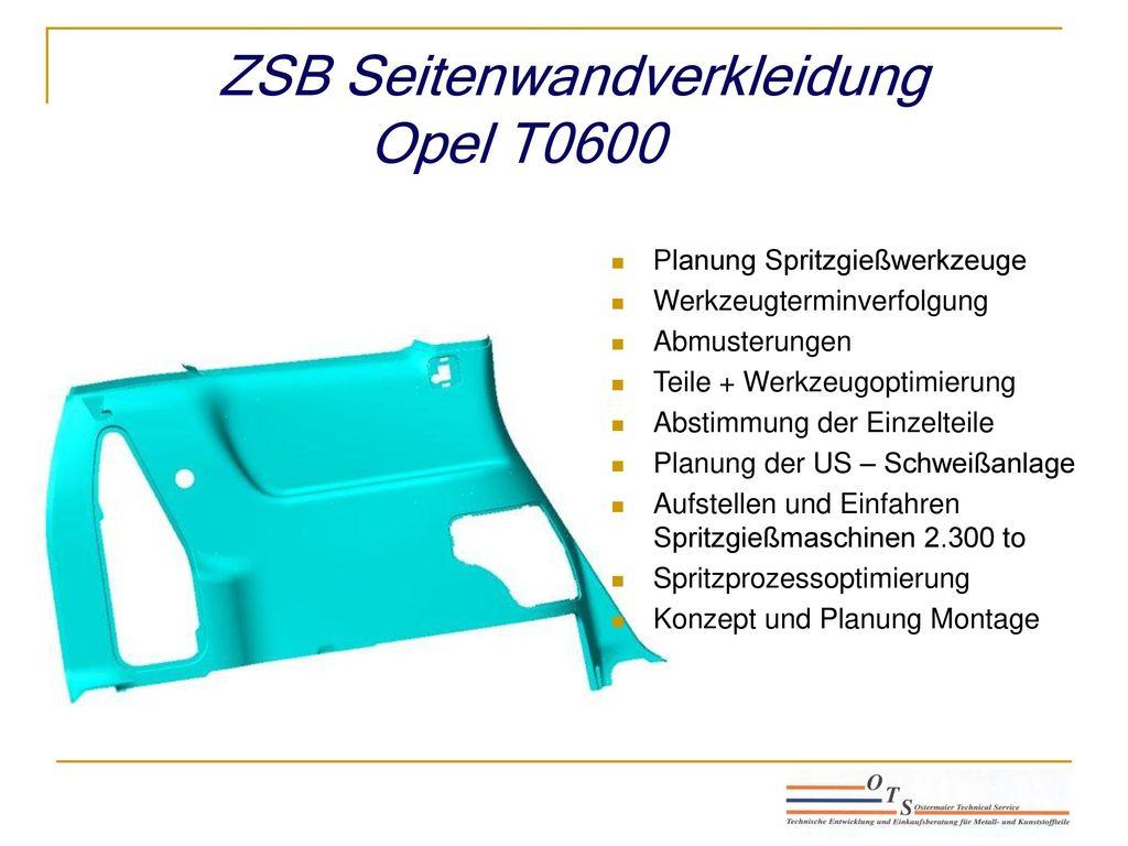 ZSB Seitenwandverkleidung Opel T0600