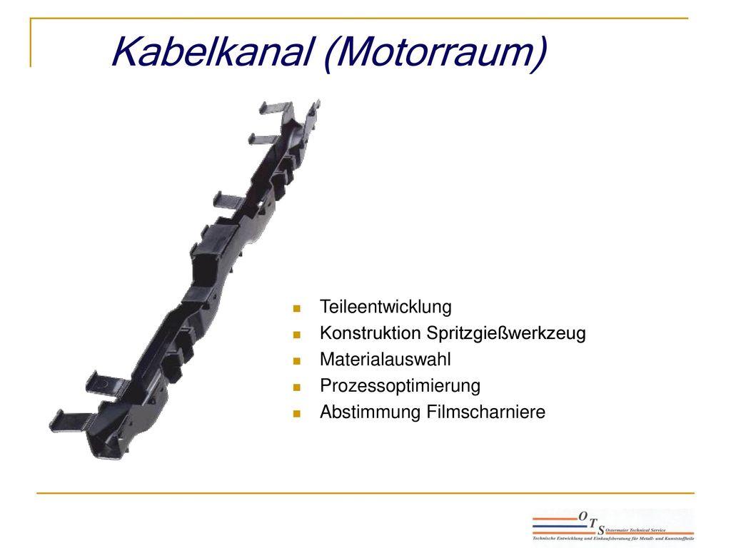 Kabelkanal (Motorraum)