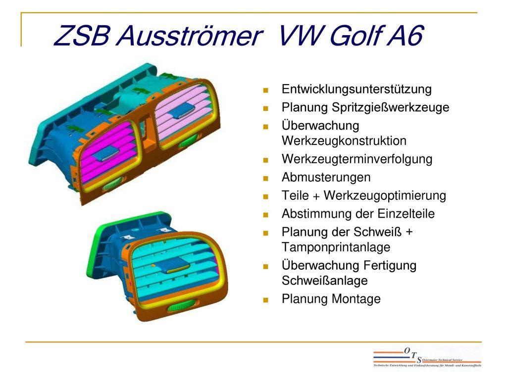 ZSB Ausströmer VW Golf A6