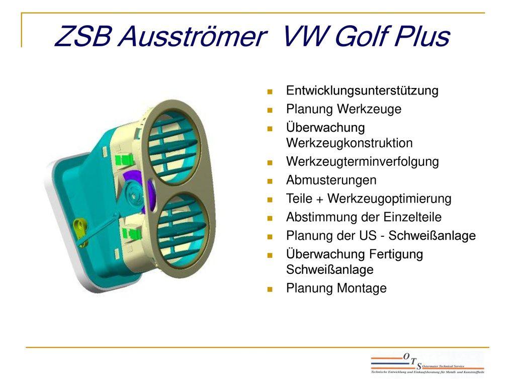 ZSB Ausströmer VW Golf Plus