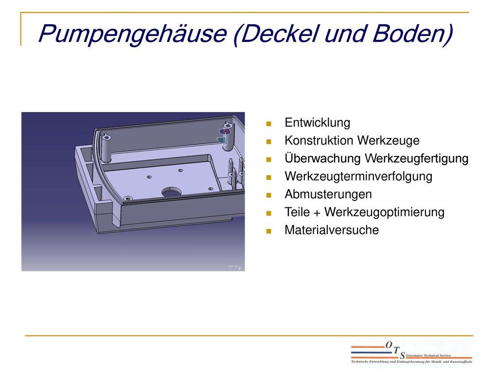 Pumpengehäuse (Deckel und Boden)