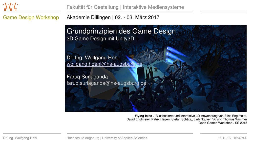 Grundprinzipien des Game Design