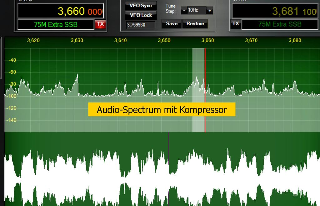 FLEX-5000™ PowerSDR Console Sope-Einstellungen Panascope